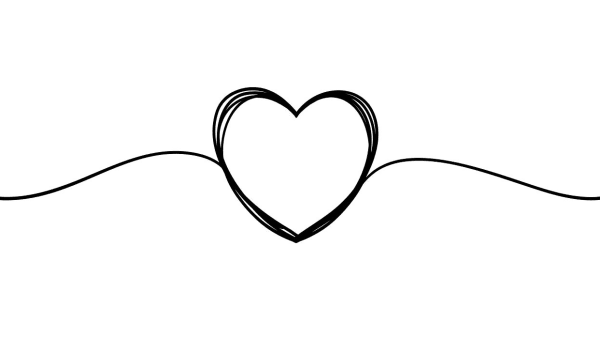 Image of hand drawn love heart