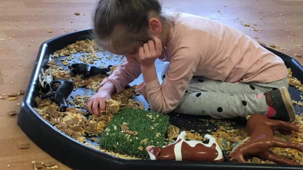 Messy play at Swings & Smiles